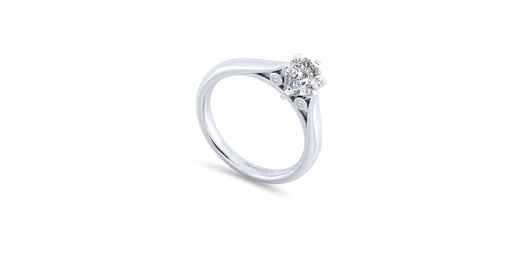 Cassie 14k White Gold Pear Shape Solitaire Engagement Ring