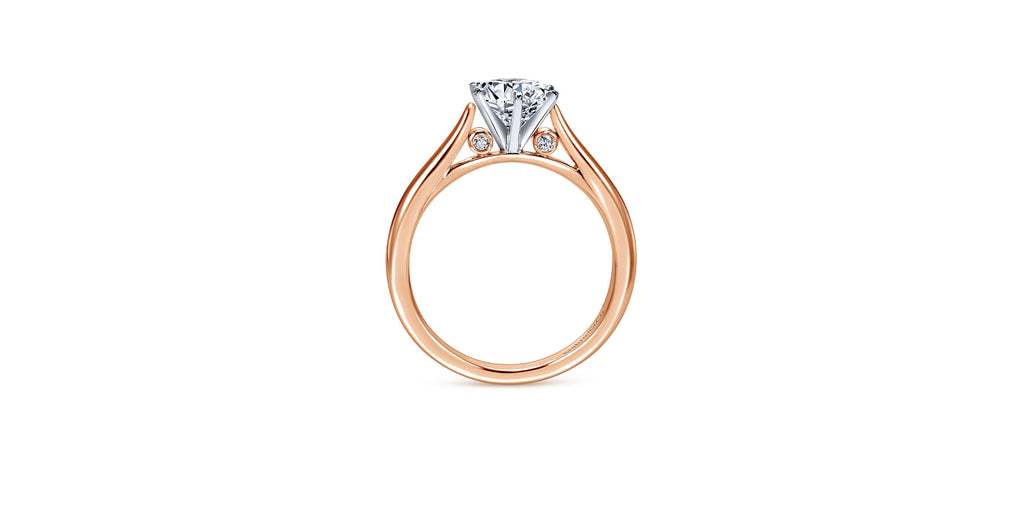 Cassie 14k Rose Gold Round Solitaire Engagement Ring
