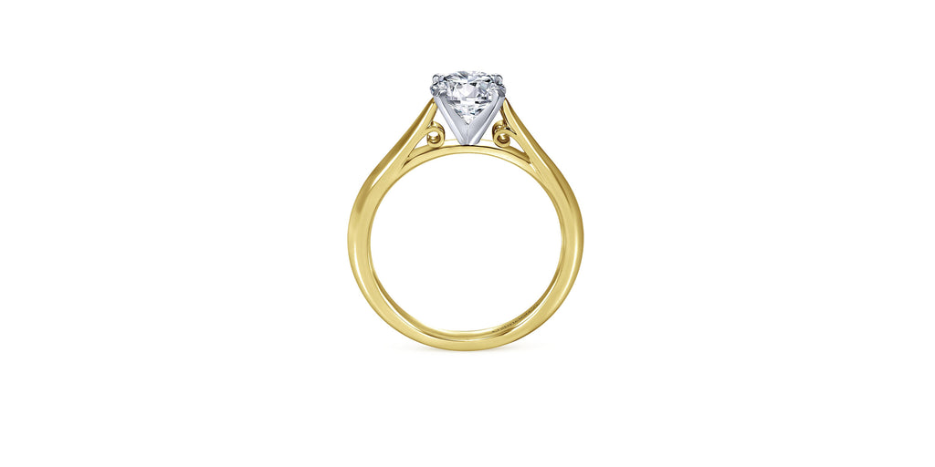 Leah 14k Yellow Gold Round Solitaire Engagement Ring