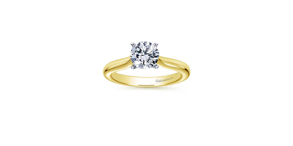 Lauren 14k Yellow Gold Round Solitaire Engagement Ring