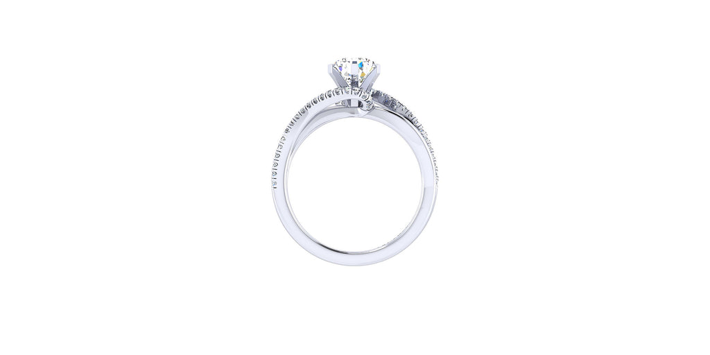 Naomi 14k White Gold Pear Bypass Engagement Ring