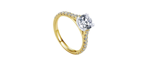 Erica 14k Yellow Gold Round Straight Engagement Ring