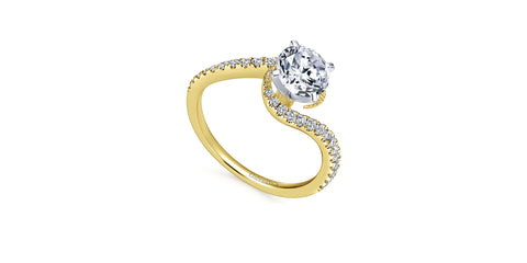 Harmony 14k Yellow Gold Round Bypass Engagement Ring