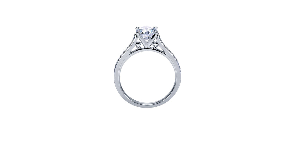 Krista Platinum Round Straight Engagement Ring