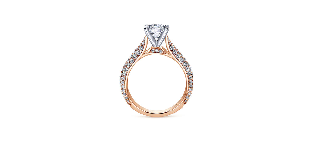 14k Rose Gold Round Straight Engagement Ring