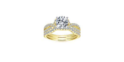 Alicia 14k Yellow Gold Round Twisted Engagement Ring