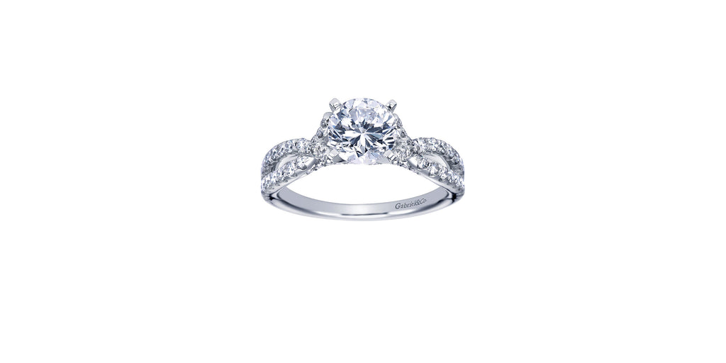 Alicia Platinum Round Twisted Engagement Ring