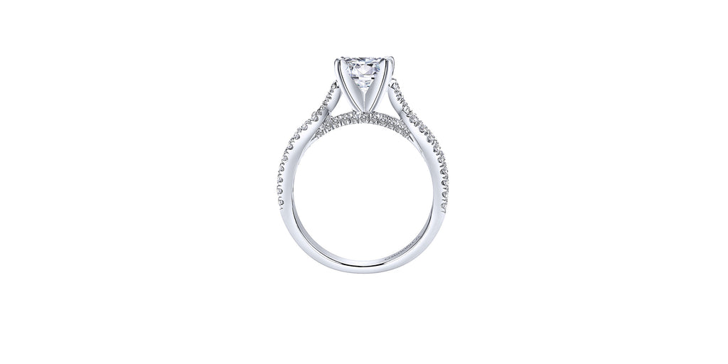 Alicia 14k White Gold Round Twisted Engagement Ring
