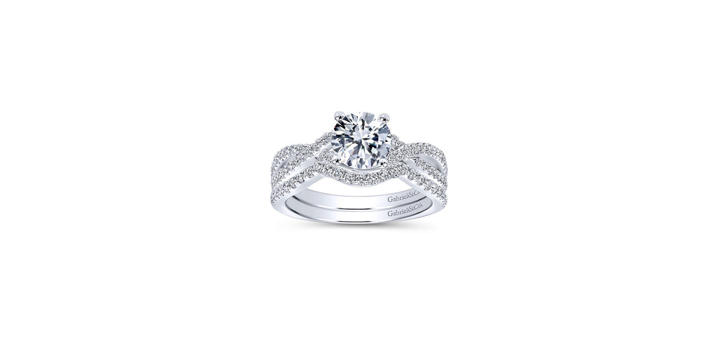 Gina Platinum Round Twisted Engagement Ring