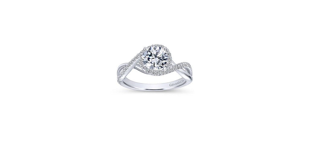 Courtney Platinum Round Twist Engagement Ring