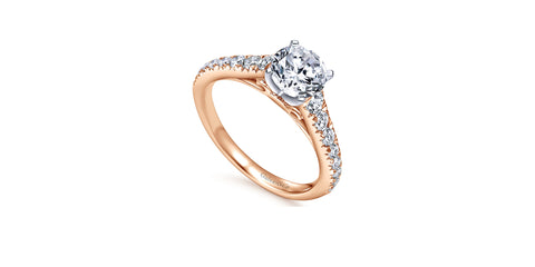 Bridget 14k Rose Gold Round Straight Engagement Ring