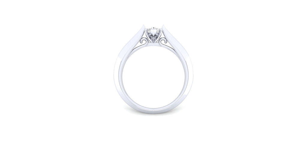 Sasha 14k White Gold Marquise Solitaire Engagement Ring