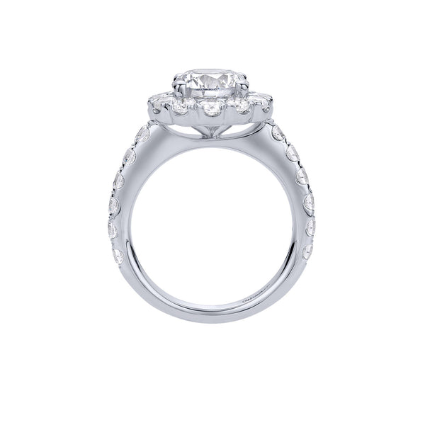 Rosalyn 14k White Gold Round Halo Engagement Ring