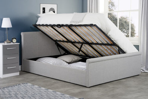 Stratus Fabric Side Ottoman Bed Frame