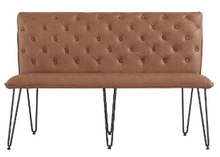 Studded Back Bench with Hairpin Legs