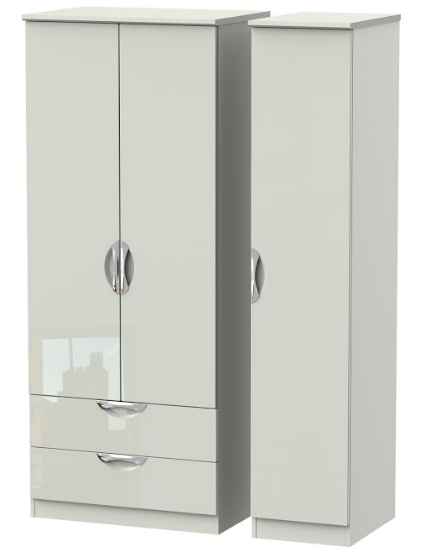 Camden Tall Triple 2 Drawer Wardrobe