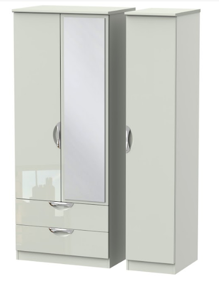 Camden Triple 2 Drawer Mirror Wardrobe