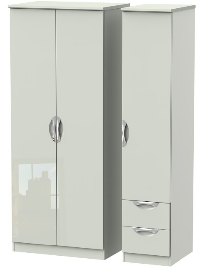 Camden Tall Triple Wardrobe and 2 Small Drawers
