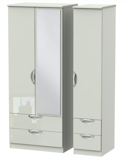 Camden Triple 2 Drawer Wardrobe and 2 Small Drawers with Mirror