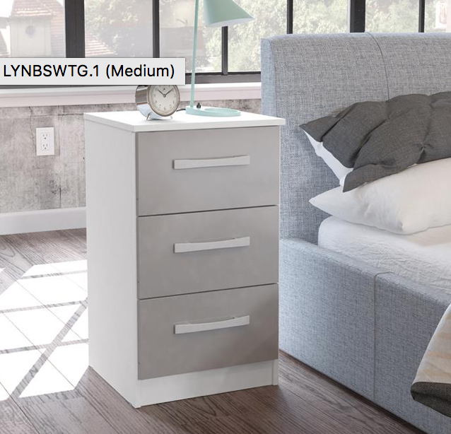 Lynx 3 Drawer Bedside