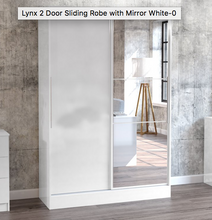 Lynx 2 Door Sliding Robe with Mirror