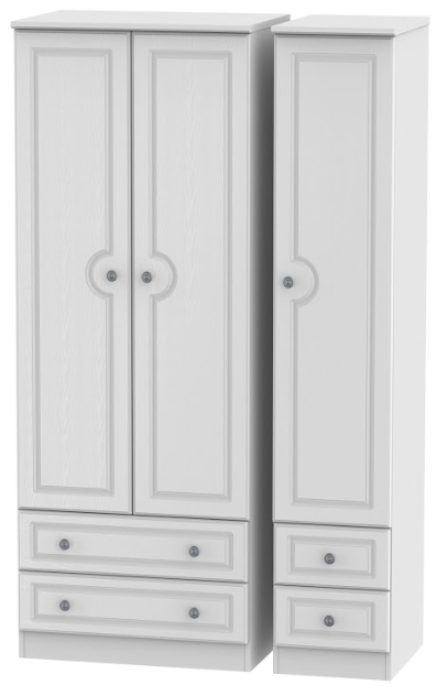 Pembroke Tall Triple 2 Drawer Wardrobe with 2 Drawer Wardrobe