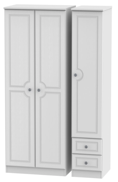 Pembroke Tall Triple Mirror Wardrobe with 2 Drawer Wardrobe