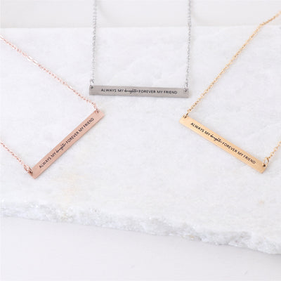 ALWAYS MY DAUGHTER - ENGRAVED BAR NECKLACE