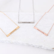 THE BEST IS YET TO COME - ENGRAVED BAR NECKLACE