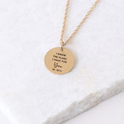 I KNOW THE PLANS I HAVE FOR YOU - CIRCLE PENDANT NECKLACE