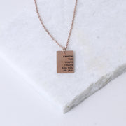 I KNOW THE PLANS I HAVE FOR YOU - RECTANGULAR PENDANT NECKLACE