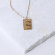 ALWAYS MY MOTHER - RECTANGULAR PENDANT NECKLACE