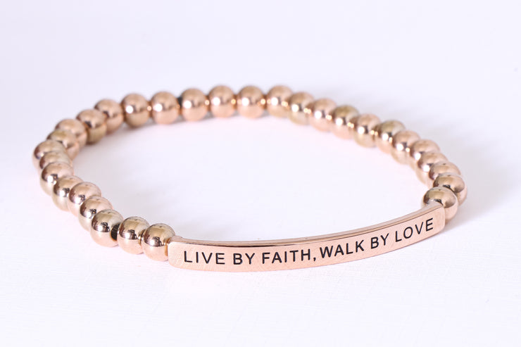 LIVE BY FAITH, WALK BY LOVE
