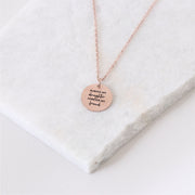 Always My Daughter Forever My Friend - Circle Pendant Necklace