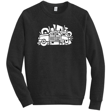 LCC 55: Woody's World Crewneck Sweatshirt BLK