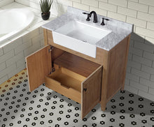 "Sally 36"" Bathroom Vanity Ash Brown Finish"