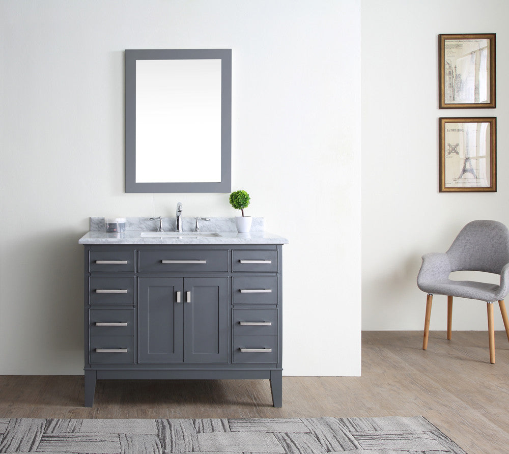 Danny 42 bathroom vanity maple grey ari kitchen bath Bathroom cabinets gray