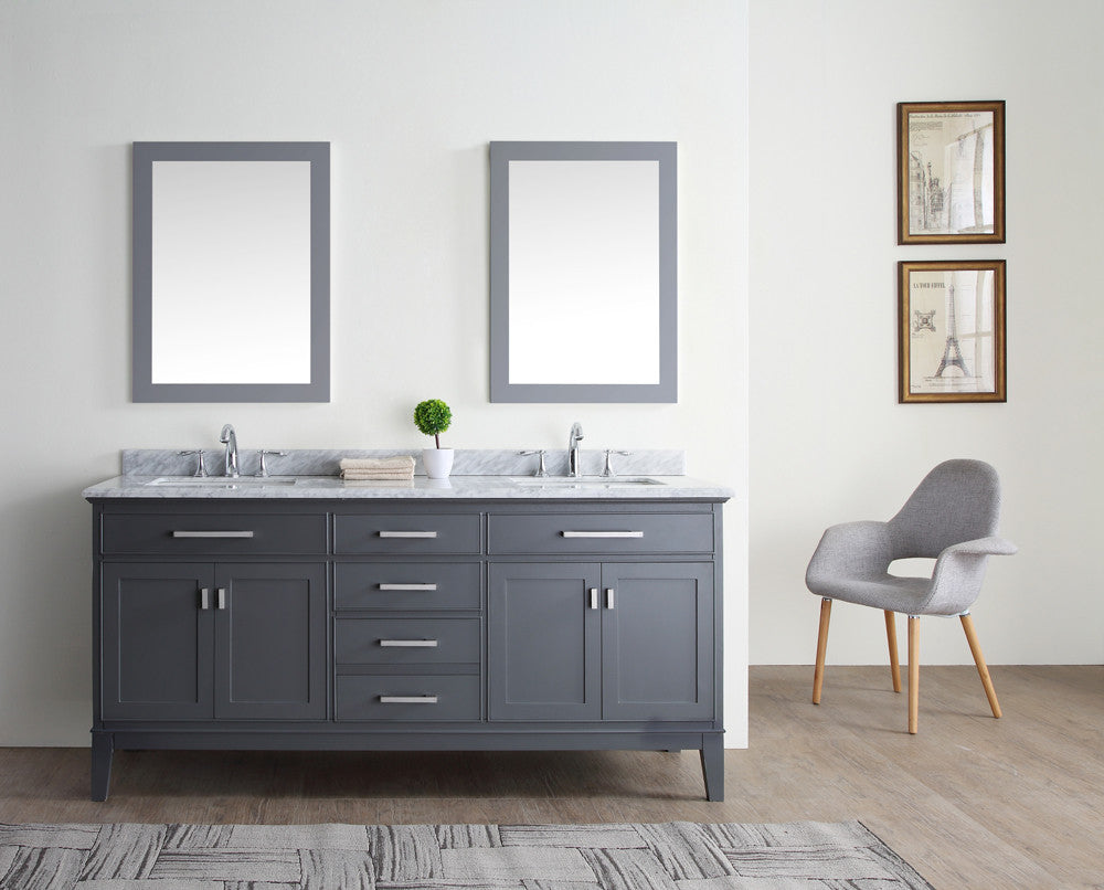 Danny 72 Quot Bathroom Vanity Maple Grey Ari Kitchen Amp Bath