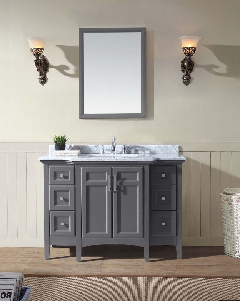 Luz 48 Quot Bathroom Vanity Maple Grey Ari Kitchen Amp Bath