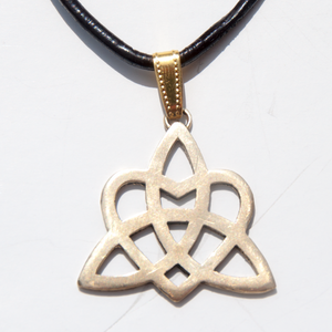 Brass celtic trinity heart