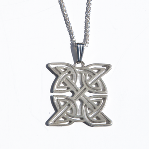 Silver Celtic Shield Pendant