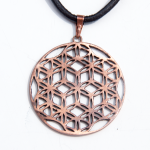 Rose Bronze Flower of Life
