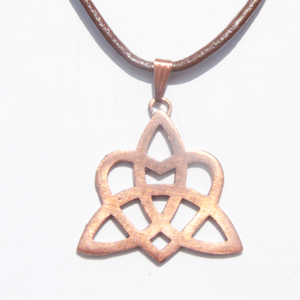 Rose Bronze Celtic Heart Pendant