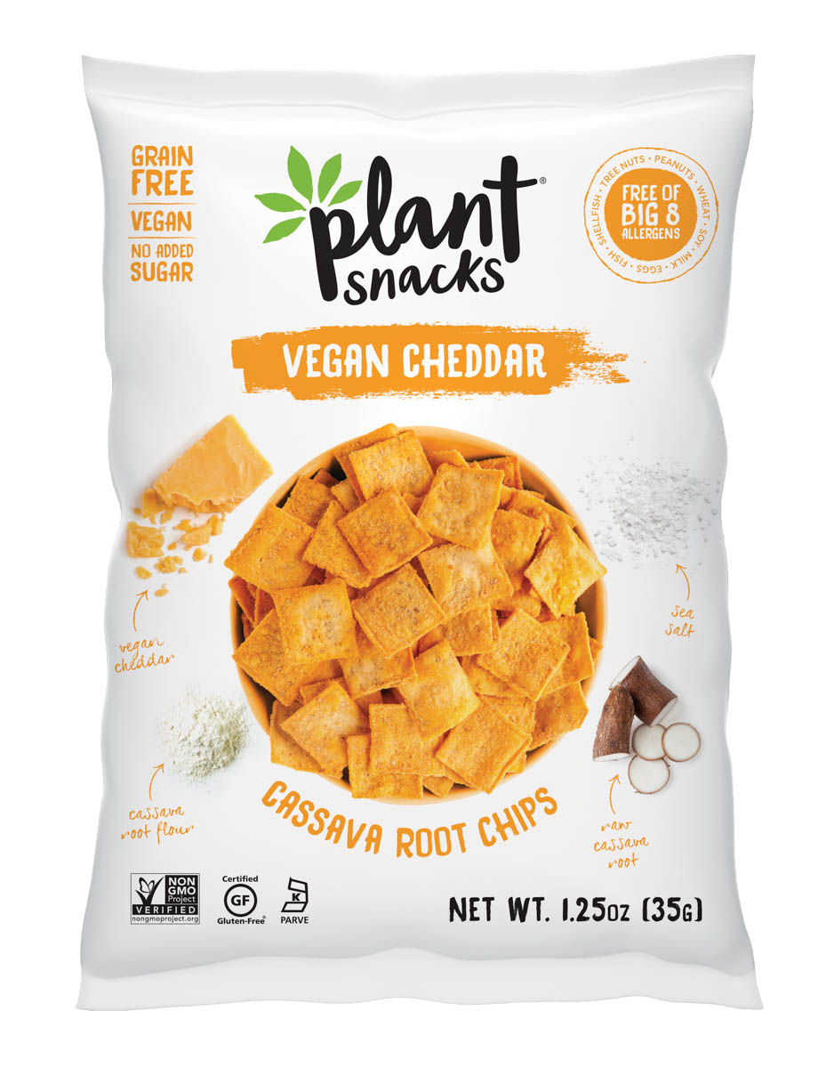 Bag of Vegan Cheddar chips