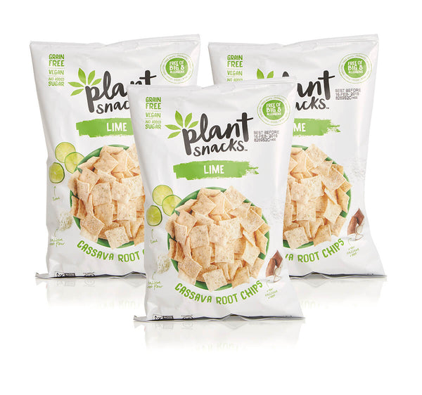 Lime Grain-Free Cassava Chips 5oz/3pk