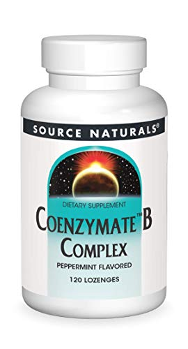 Source Naturals Coenzymate B Complex - Peppermint Flavor That Melts in Mouth - B Vitamins - 120 Lozenges