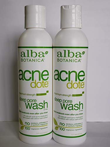 Alba Botanica Natural Acnedote Deep Pore Wash, 6 Ounce. (Pack of 2)