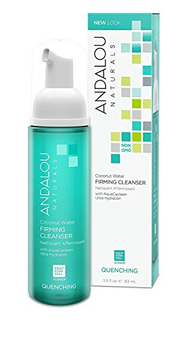 Andalou Naturals Cleanser Ounce Hydrating Facial Cleanser, Clear, Coconut Water Firming, 5.5 Fl Oz