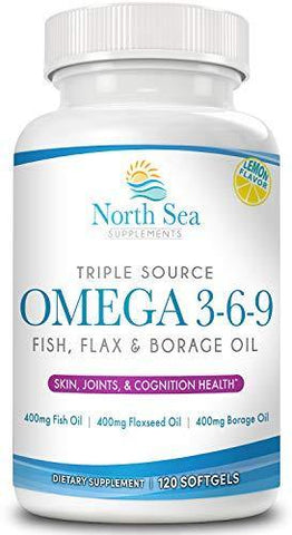 Complete Ultra Omega 3-6-9 - Fish Oil Complex - Complete Omega With Flaxseed Oil, Borage Oil, EPA & DHA To Support Heart, Brain, and Immune Health – 120 Softgel
