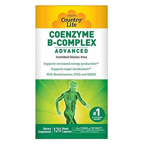 Country Life Coenzyme B Complex Advanced - 120 Vegetarian Capsules - Supports Energy Production - Sugar Metabolism